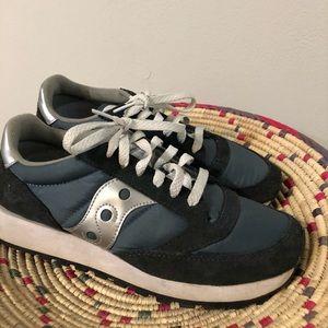 Navy Saucony Jazz Trainer Tennis Shoes